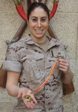 Marta Brañas con la medalla conquistada (Foto:FLO)