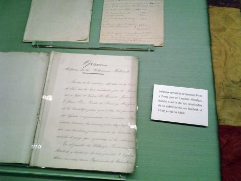 Correspondencia del General Prim. Biblioteca Academia de Infantería.
