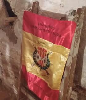 La Bandera de mochila del RIL nº 67 ha acompañado a los investigadores durante los trabajos