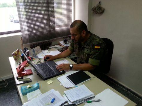 Soldado Jair Eliseo Duarte Pérez, alumno más destacado en la Universidad Internacional de La Rioja.