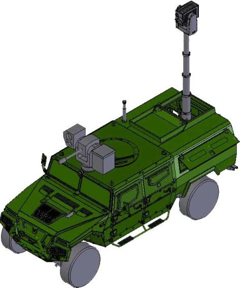 Prototipo del Vehículo de Reconocimiento Terrestre