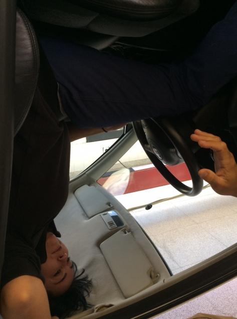 Simulador de vuelco de vehículo