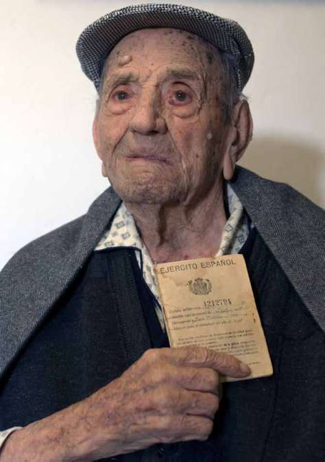 Francisco Núñez cumple 112 años recordando su paso por las filas del Ejército