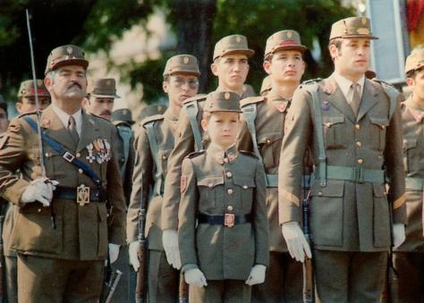 Un soldado de nueve años