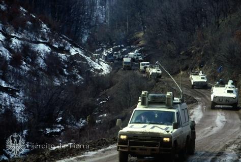 Convoy Español en bosnia