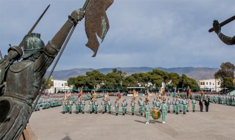 Formación militar 60 aniversario Edchera