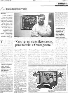 Entrevista Chicho Ibáñez Salvador